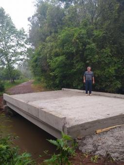 Concluída nova ponte sobre o Arroio Grande entre Cruzeiro do Sul e Venâncio Aires