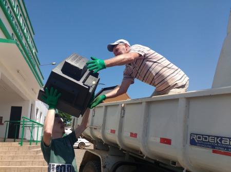 Neste sábado, dia 2, haverá roteiro para o recolhimento de lixo eletrônico