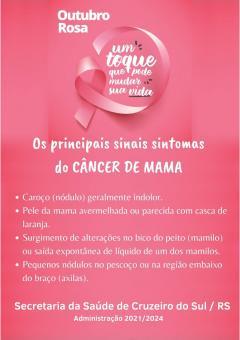 Outubro Rosa terá exames e orientações contra o câncer de mama